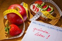 Buona risoluzione per la dieta sana Fotografia Stock Libera da Diritti