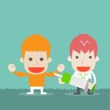 Buona salute dell'uomo con medico illustrazione di stock