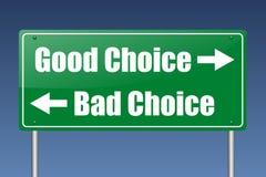 Buona scelta difettosa choice Fotografia Stock Libera da Diritti