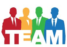 Buona squadra di affari Immagini Stock Libere da Diritti