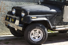 Buona vecchia jeep Fotografia Stock