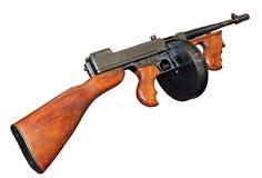 Buona vecchia pistola di Tommy Fotografie Stock