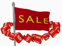 Buona vendita per i compratori Immagini Stock Libere da Diritti