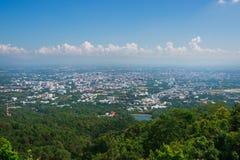 Buona vista della città di Chiang Mai Fotografia Stock Libera da Diritti
