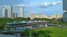 Buona Vista MRT station. Train arriving at Buona Vista MRT station in west Singapore royalty free stock photography