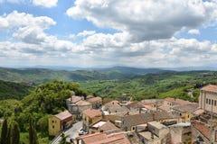 Buonalbergo, de spookstad in zuidelijk Italië royalty-vrije stock foto's