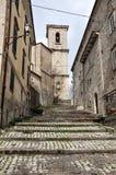 Agnone medieval village in Italy. Buonarroti climb in medeival historic center of Agnone village. Molise region, central south Italy stock images