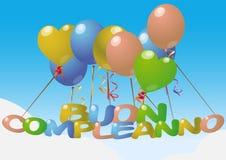 buoncompleanno Arkivbild