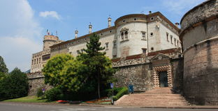 Buonconsiglio castle and museum. In Trento Royalty Free Stock Image