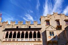 Buonconsiglio Schloss - Trento Italien stockbild