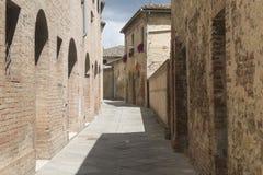 Buonconvento (Toscanië, Italië) Royalty-vrije Stock Afbeeldingen