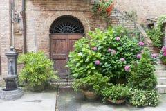 Buonconvento (Tuscany, Italien) Arkivfoto