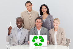 Buone pratiche ambientali nell'ufficio Immagine Stock