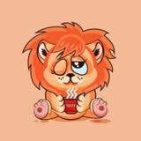Buongiorno del cucciolo di leone Immagine Stock