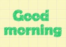 Buongiorno nella carta del taccuino, graffio royalty illustrazione gratis