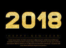 2018 buoni anni illustrazione vettoriale