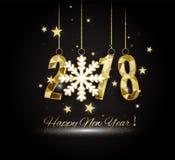 2018 buoni anni Buon Natale congratulisi Immagini Stock Libere da Diritti