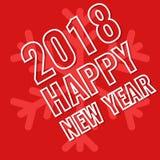2018 buoni anni, cartolina d'auguri Immagini Stock Libere da Diritti