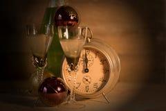2017 buoni anni con l'orologio Fotografie Stock Libere da Diritti