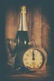 2017 buoni anni con l'orologio Immagini Stock Libere da Diritti