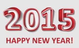 2015 buoni anni, illustrazione di vettore Immagini Stock Libere da Diritti