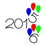 Buoni anni una progettazione di 2015 e 2016 testi illustrazione vettoriale
