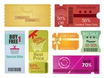 Buoni e progettazione di carta del regalo Immagine Stock Libera da Diritti