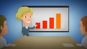 Buoni risultati - animazione di presentazione di affari illustrazione vettoriale