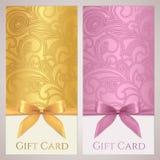 Buono regalo, carta di regalo, modello del buono illustrazione vettoriale