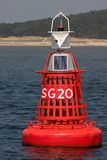 Buoy. A solar powered buoy along the coast of Terschelling Royalty Free Stock Images