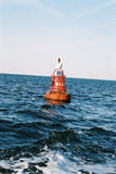 Buoy. At the Waddenzee heading Terschelling royalty free stock photos