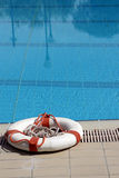 Buoy. Life buoy near by the pool Stock Images