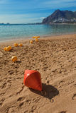 Buoy at the beach Stock Images