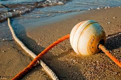 Buoy on the beach Royalty Free Stock Photos
