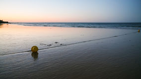 Buoy on beach Praia Falesia near Albufeira city Royalty Free Stock Image