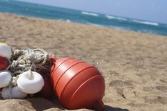 Buoy on the beach. Royalty Free Stock Photos