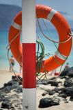 Buoy on the beach. Safe object royalty free stock images