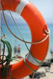 Buoy on the beach. Safe object stock image