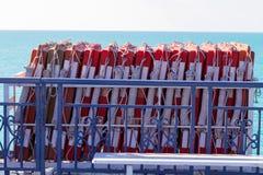 Buoy on boat Royalty Free Stock Photos