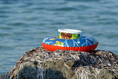 Buoy and bucket Stock Image