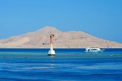 A buoy denoting a reef in the Red Sea Royalty Free Stock Photos