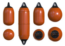 Buoy and fenders for boat protection Royalty Free Stock Photos