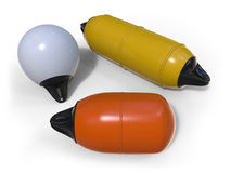 Buoy and fenders for boat protection Royalty Free Stock Photography
