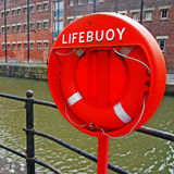 Buoy foam lifesaving ring Royalty Free Stock Image