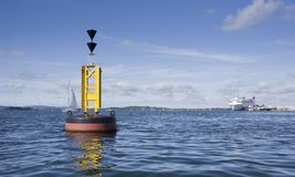 Buoy in Harbour Stock Photography