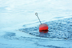 Buoy in ice Royalty Free Stock Image