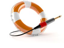 Buoy with jack plug. Isolated on white background Royalty Free Stock Photography