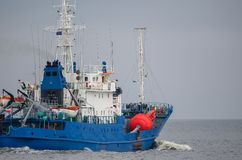 BUOY-LAYING VESSEL Stock Images