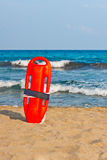 Buoy for a lifeguard. Red buoy for a lifeguard to save people from drowning Stock Image