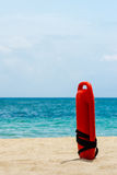 Buoy for a lifeguard. Red buoy for a lifeguard to save people from drowning Stock Photography